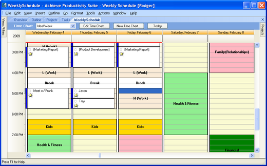 Personal time management software to take control of your for Software planner