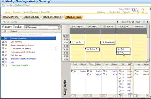 Franklin Covey Software Weekly Planning wizard